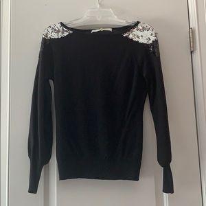 Gorgeous Trina Turk black sweater